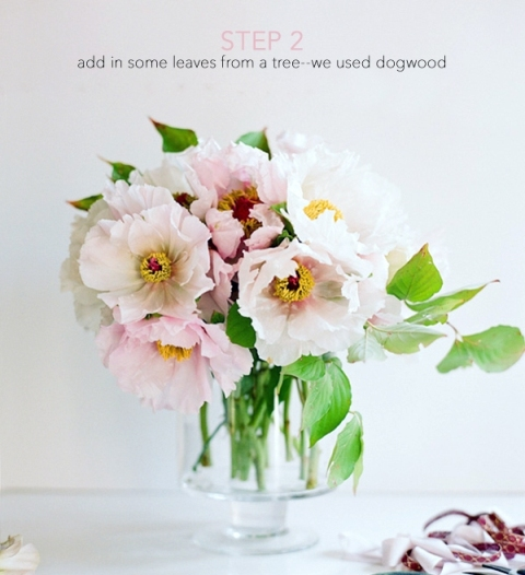 Beautiful DIY Bridal Peony Bouquet