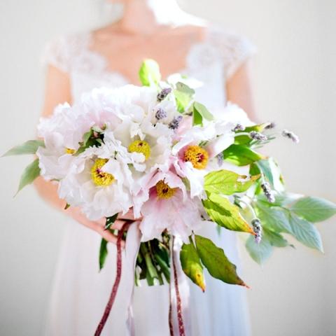 Beautiful DIY Bridal Peony Bouquet