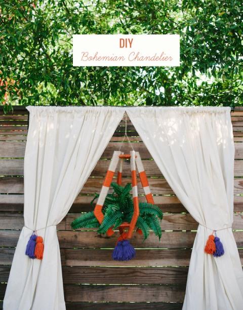 Diy bohemian chandelier for your wedding weddingomania diy bohemian chandelier for your wedding aloadofball Images
