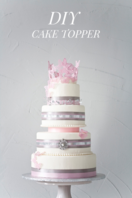 Delicate DIY Paper Cake Topper For Your Wedding