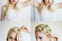 Elegant DIY Pin Curls For Retro Weddings 2