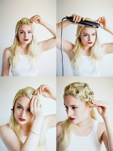 Elegant DIY Pin Curls For Retro Weddings