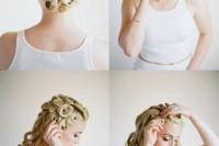 Elegant DIY Pin Curls For Retro Weddings 3