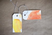 Gentle DIY Watercolor Tags For Wedding Favors