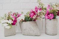 Great DIY Cement Centerpieces For Your Wedding Day 5