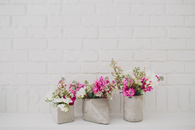 Great DIY Cement Centerpieces For Your Wedding Day