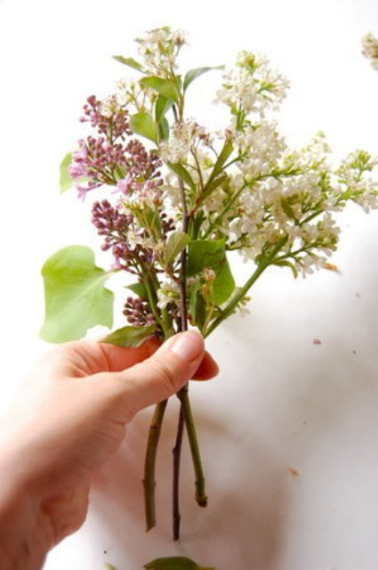 Picture Of Naturally Beautiful DIY Wild Lilac Bouquet For Brides 5