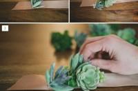 Simple And Elegant DIY Succulent Wrist Cuff For Bridesmaids 3