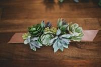 Simple And Elegant DIY Succulent Wrist Cuff For Bridesmaids 4