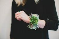Simple And Elegant DIY Succulent Wrist Cuff For Bridesmaids 5
