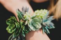 Simple And Elegant DIY Succulent Wrist Cuff For Bridesmaids 6