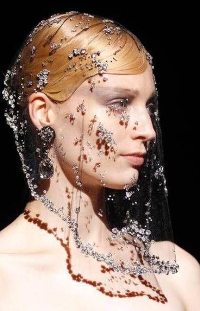 a sheer embellished veil will make a luxurious statement in your bridal look