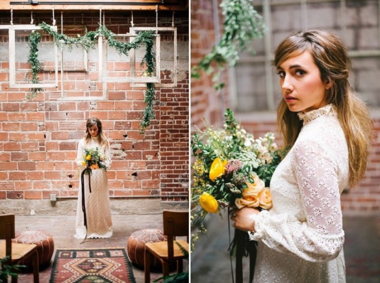 Boho Meets Industrial Wedding Inspiration