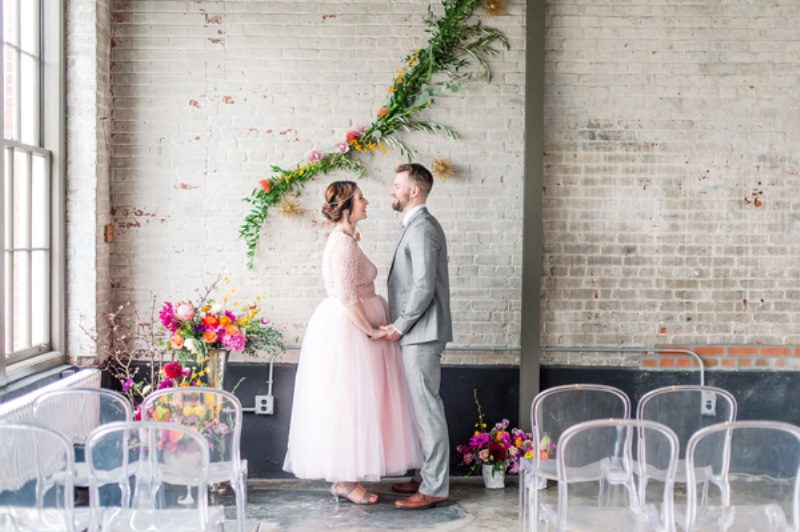 Picture Of bright geometric vow renewal shoot  5