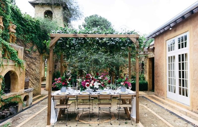Picture Of ethereal bohemian wedding shoot at the french house  10