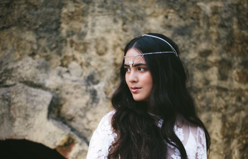 Picture Of ethereal bohemian wedding shoot at the french house  11