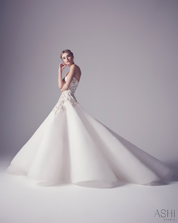 Wedding Dress in Studio