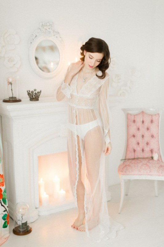 Flirty And Playful Bridal Boudoir Shoot In Blush Pink