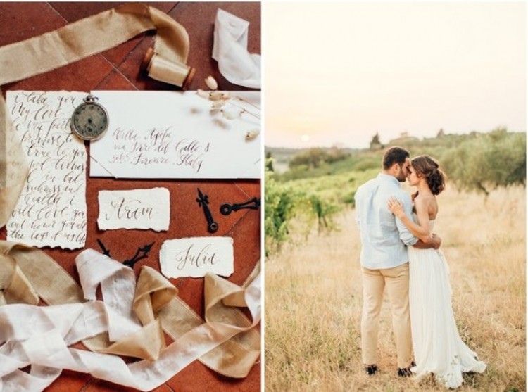 Gorgeous Tuscan Hills Engagement Shoot