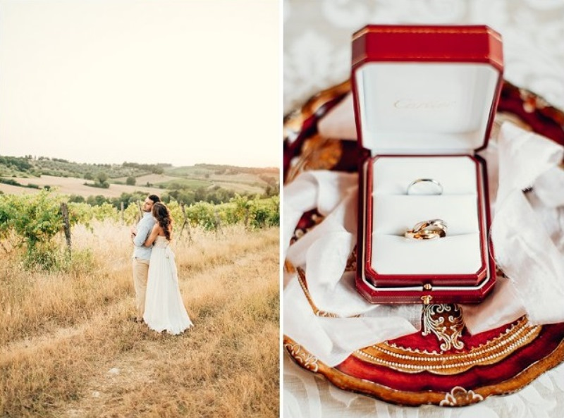 Picture Of gorgeous tuscan hills engagement shoot  7