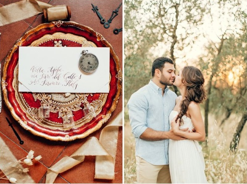 Picture Of gorgeous tuscan hills engagement shoot  8