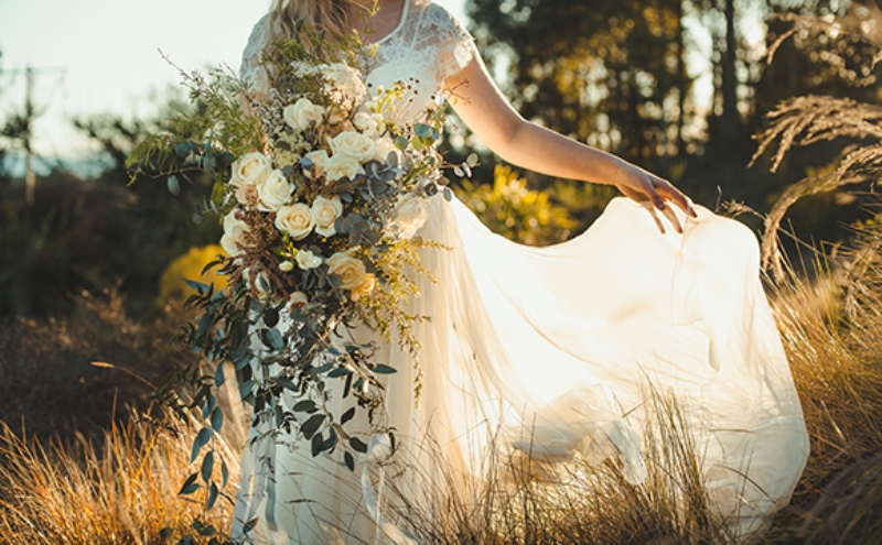 Picture Of intimate and romantic vineyard wedding shoot  15