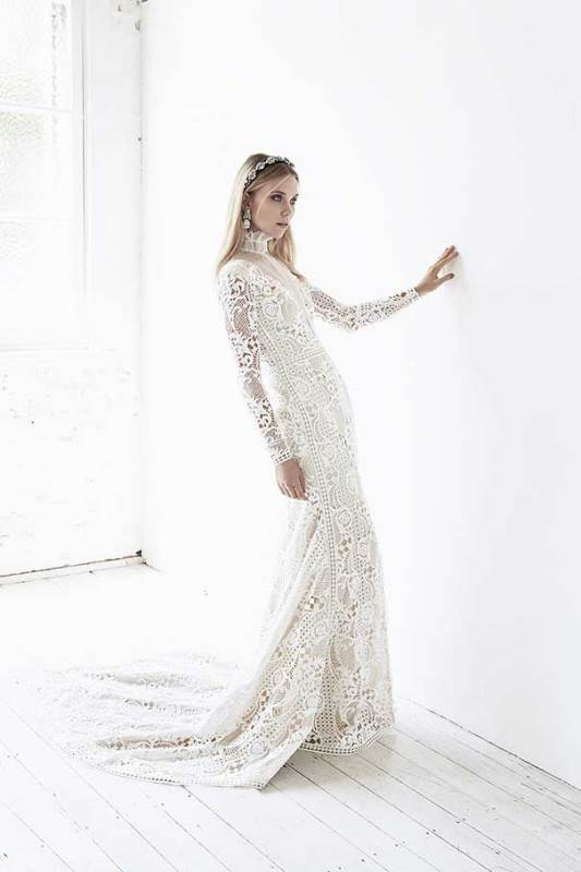 Refined Suzanne Harward 'Neo-Victorian' Bridal Dress Collection