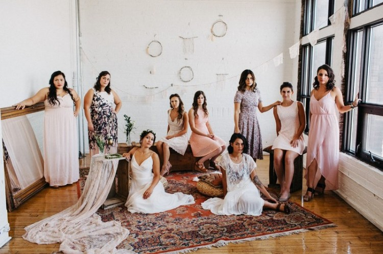 Relaxed Organic-Inspired Handmade Bohemian Wedding