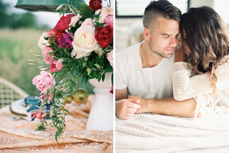 Romantic Low Key Camping Honeymoon Inspiration