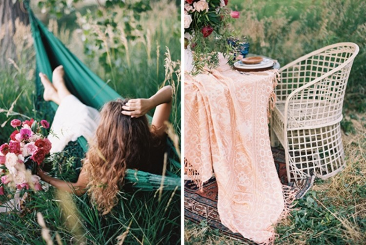 Romantic Low Key Camping Honeymoon Inspiration