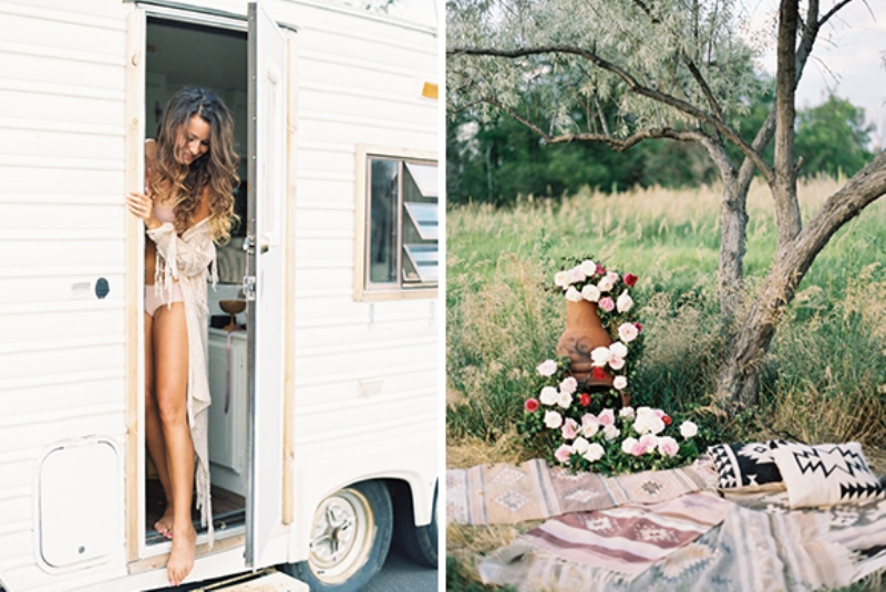 Picture Of romantic low key camping honeymoon inspiration  2