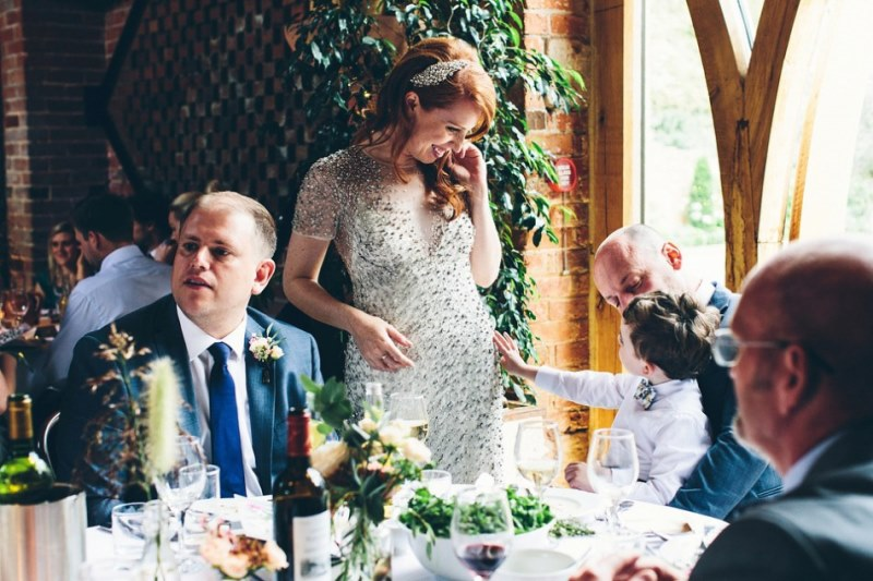 Picture Of rustic glam english country barn wedding  27