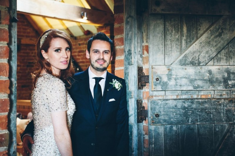 Picture Of rustic glam english country barn wedding  32