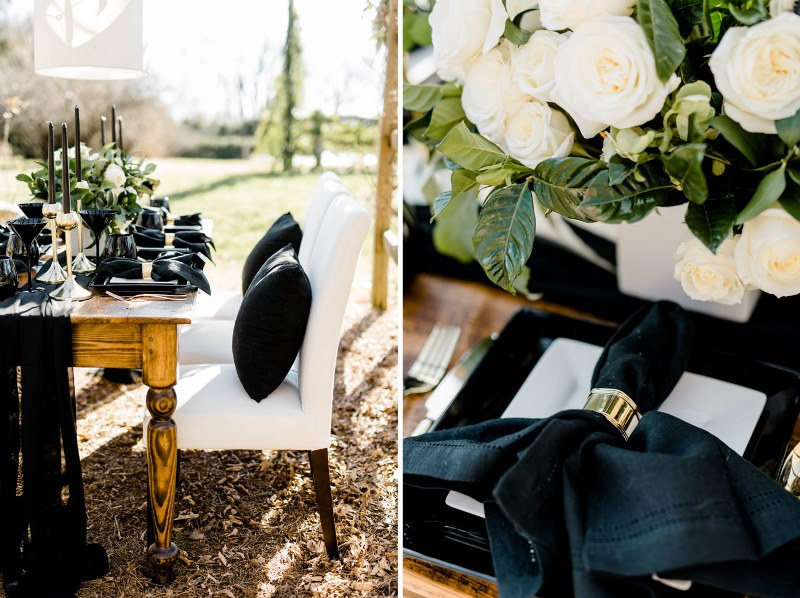 Picture Of Rustic Organic And Modern Black White Wedding 11