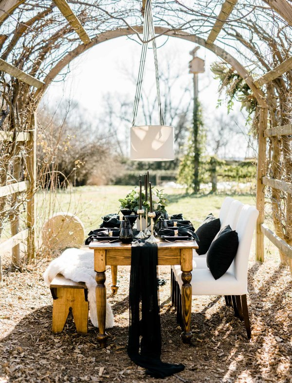 Rustic Organic And Modern Black And White Wedding