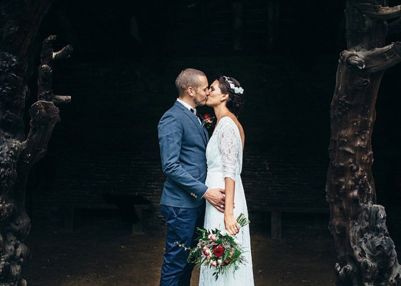 Picture Of rustic vintage english country garden wedding  11