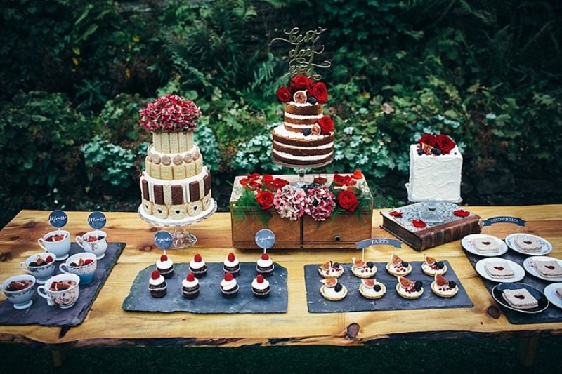 Picture Of rustic vintage english country garden wedding  4