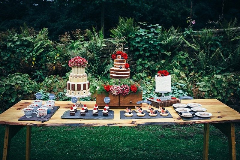 Picture Of rustic vintage english country garden wedding  9