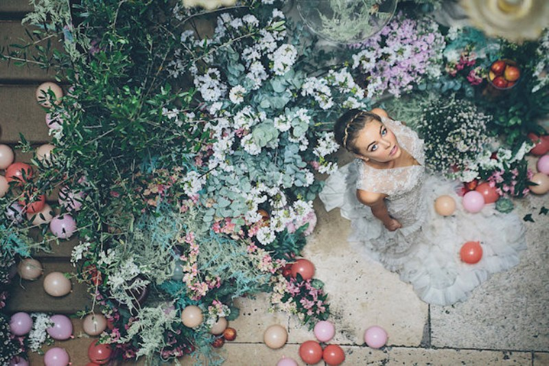 Picture Of sleeping beauty inspired wedding shoot with an insanely pretty floral installation  1