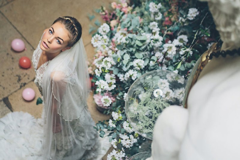 Picture Of sleeping beauty inspired wedding shoot with an insanely pretty floral installation  10