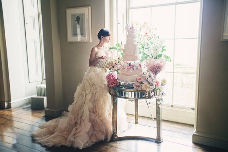 Picture Of sleeping beauty inspired wedding shoot with an insanely pretty floral installation  12