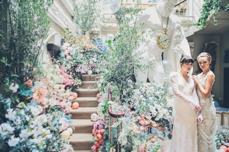 Picture Of sleeping beauty inspired wedding shoot with an insanely pretty floral installation  2