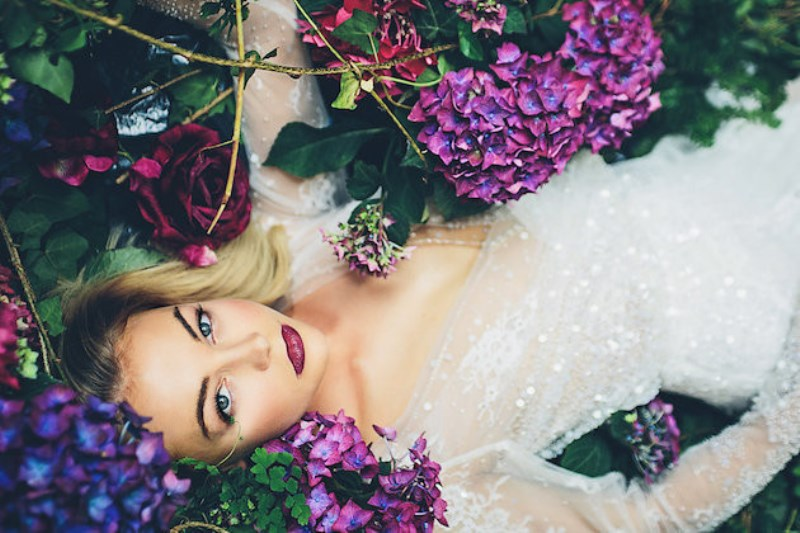 Picture Of sleeping beauty inspired wedding shoot with an insanely pretty floral installation  24