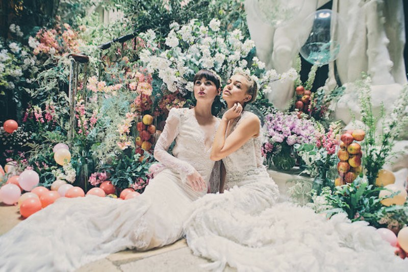 Picture Of Sleeping Beauty Inspired Wedding Shoot With An Insanely Pretty Fl Installation 6