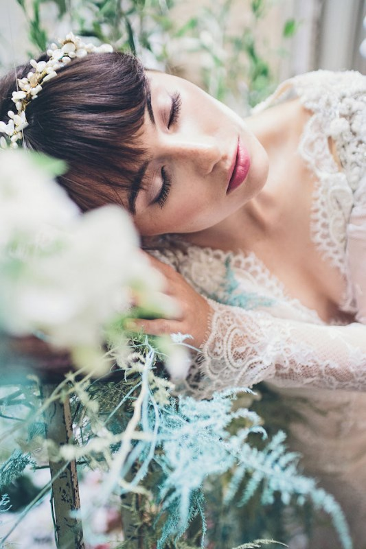 Picture Of sleeping beauty inspired wedding shoot with an insanely pretty floral installation  8