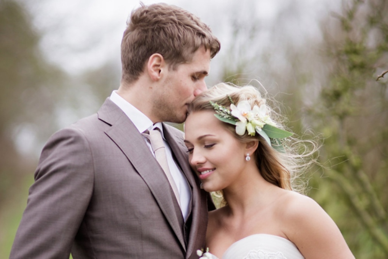 Picture Of soft and neutral rustic wedding shoot from netherlands  26