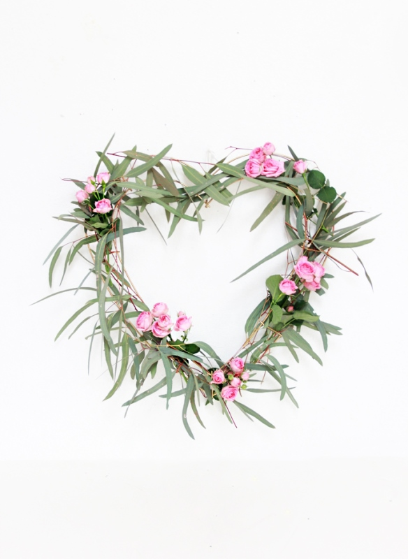 Sweet DIY Heart Eucalyptus Wreath
