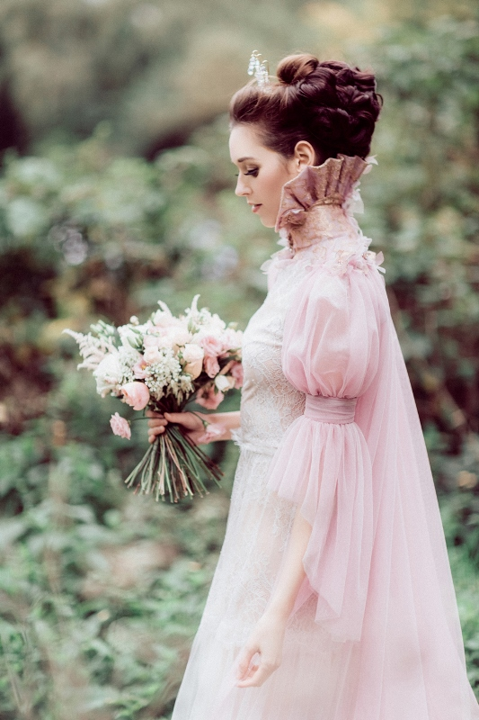 "Timeless ""My Fair Lady"" Inspired Bridal Shoot With Fabulous Pink Gowns"