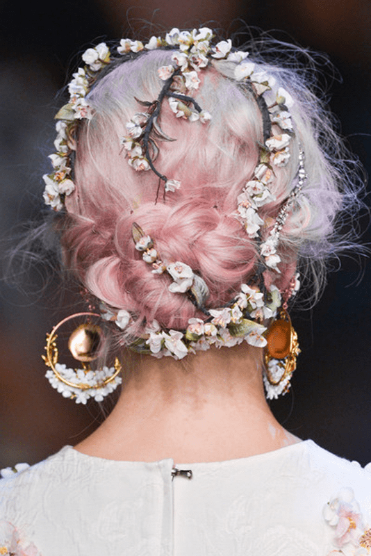 Picture Of unique pastel wedding hair ideas  12