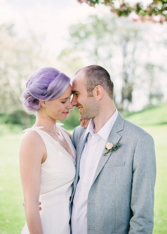 Picture Of unique pastel wedding hair ideas  6